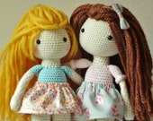 Crochet Amigurumi Doll PATTERN ONLY PDF Instant Download Childrens Gift Crochet Pattern