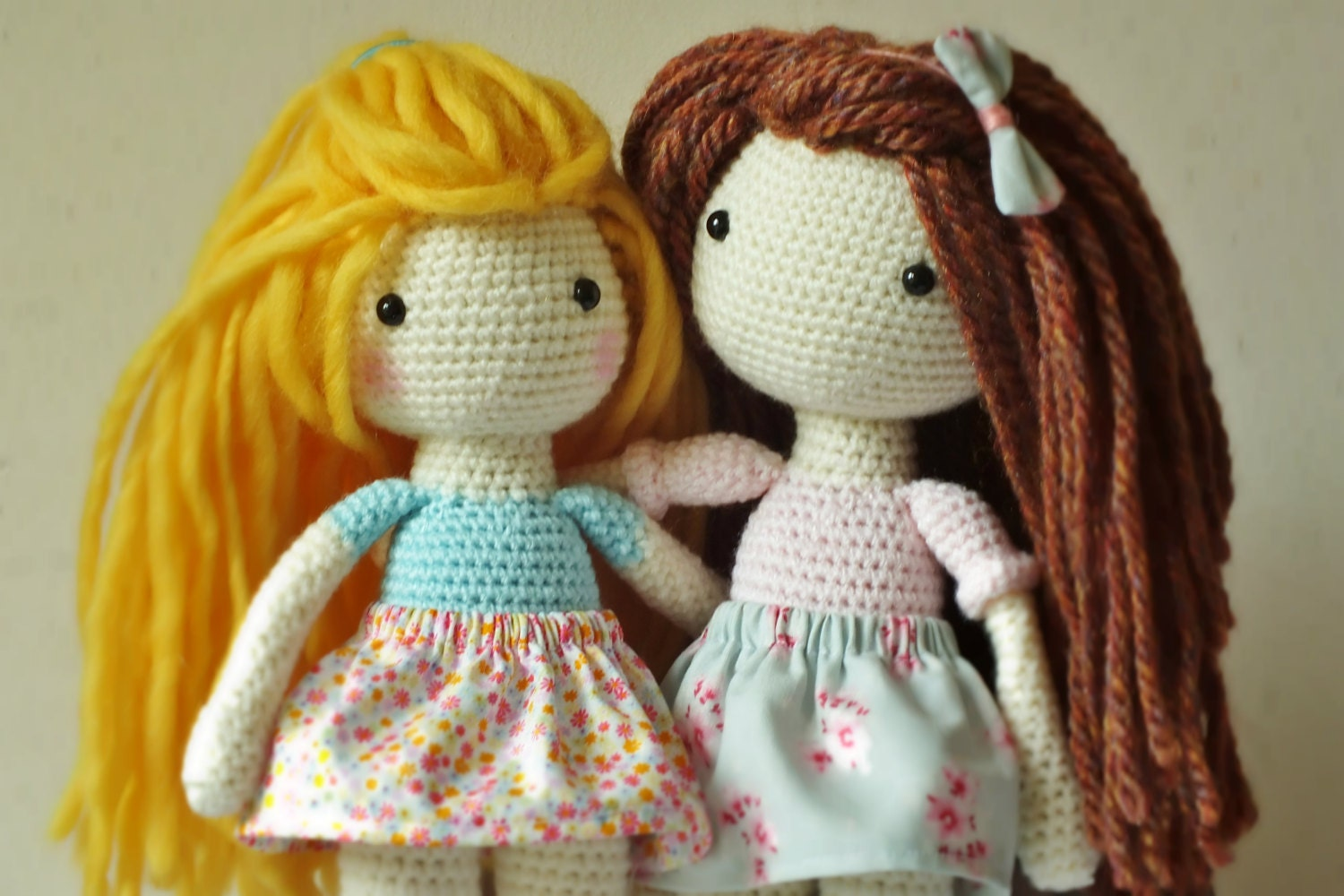 Amigurumi Square Doll : Crochet Amigurumi Doll PATTERN ONLY PDF Instant Download
