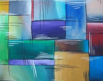 Let The Colors Shine ORIGINAL 11X14 Flat Canvas