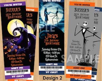 Halloween Invite - Printable Nightmare Before Christmas Birthday Invitation - Kids Halloween Invitation - Adult Halloween Party Invite