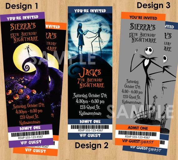Halloween Invite Printable Nightmare Before Christmas