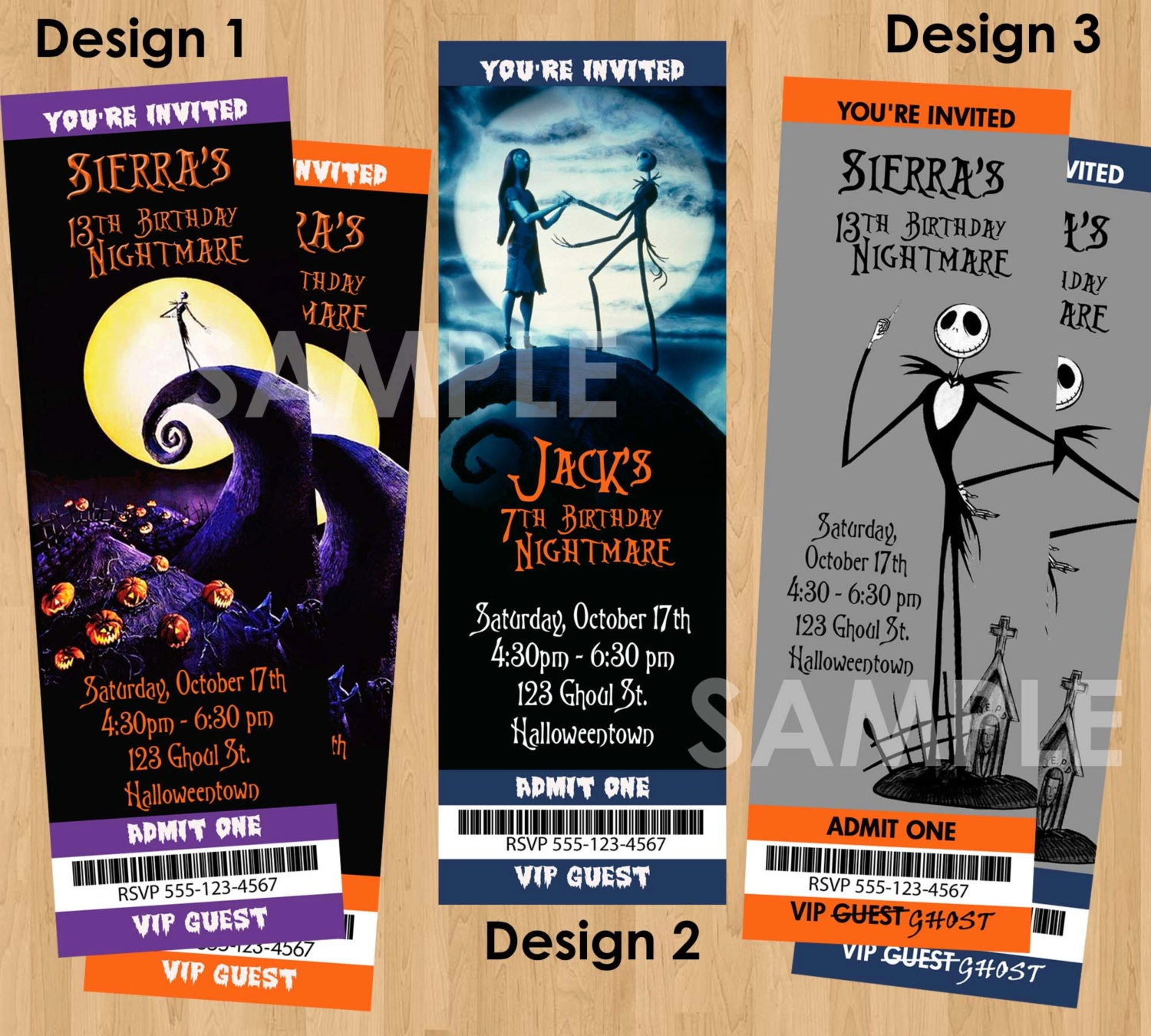 Halloween Invite Printable Nightmare Before Christmas