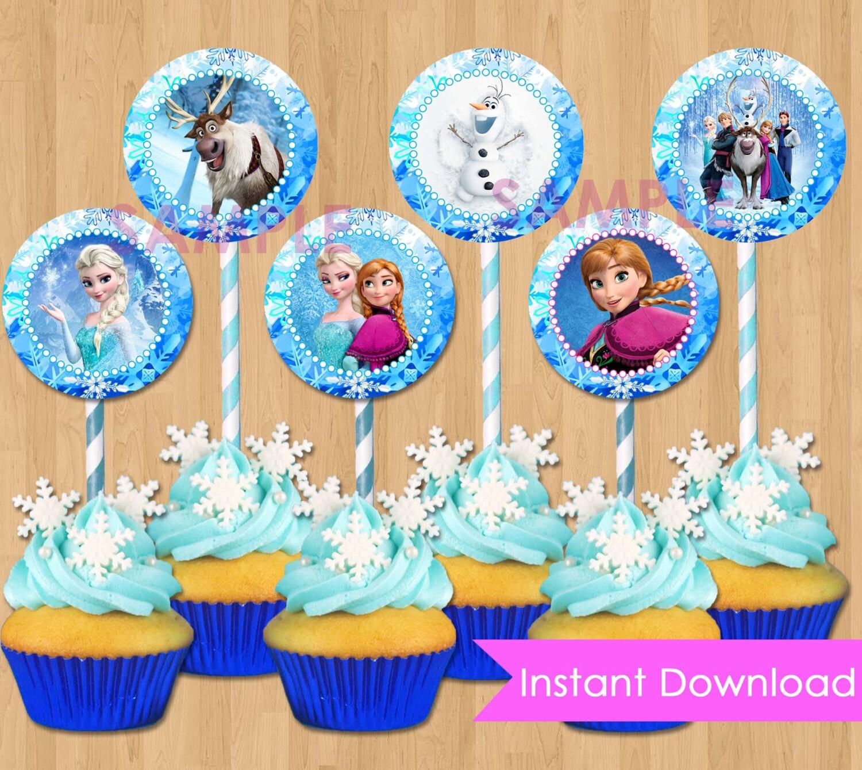 Frozen Cupcake Toppers Instant Download Disney Frozen