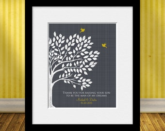 Thank You for Raising Your Son, Groom's Parent Gift,  Gift for Groom's Mom, Gift for Groom's Dad, Personalized Parent's Thank You Print