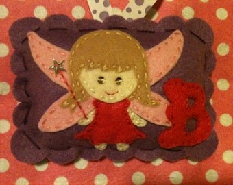 Girls Personalized Tooth Fairy Pillow. Girls Tooth Fairy Pillow
