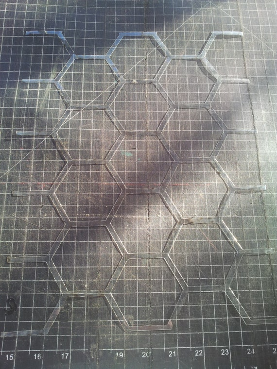 Honeycomb Wall Stencil - Hexagons