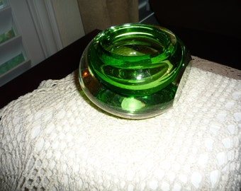 Green Crystal Candleholder