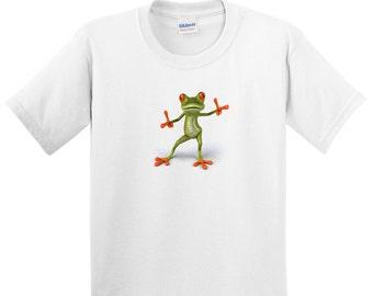 Children's Tree Frog T Shirt Kids Boys or Girls Tee