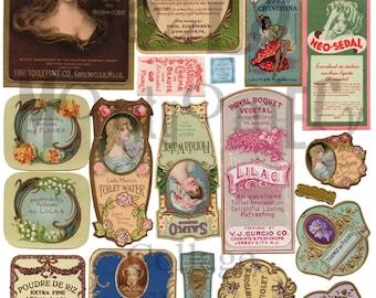 Perfume Labels Number 2 Digital Download Collage Sheet