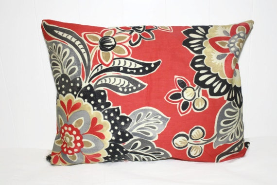 Items similar to Pillow, Throw Pillow Cover, Decorative Pillow Cover Coral, Black, Tan, and Gray ...