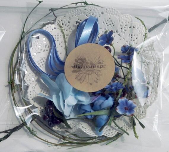 DIY Kitblue Flower Crown Wedding Hairband Bridal Hair