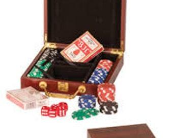 Personalized Poker Set - Engraving
