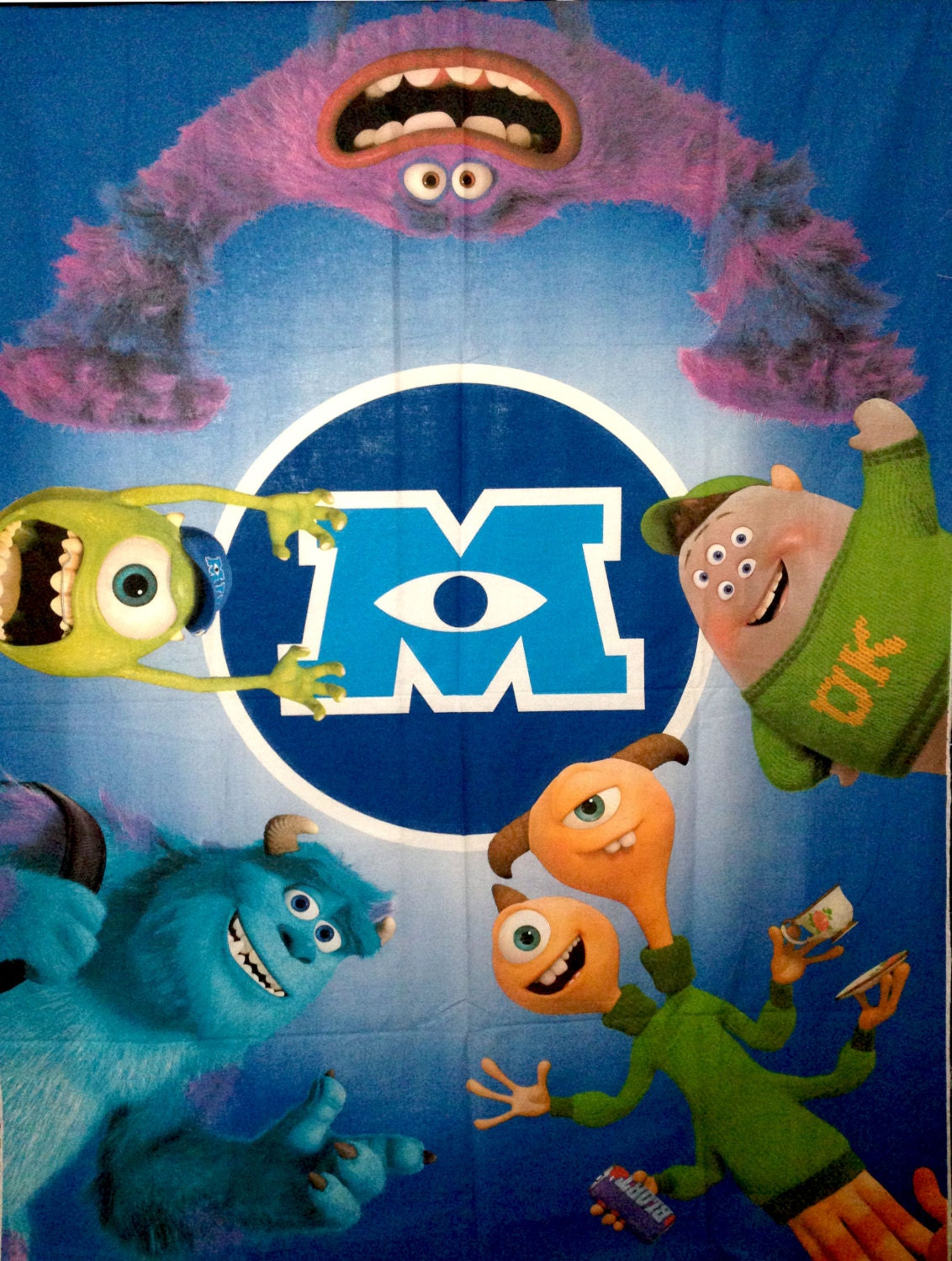 Monsters Inc University All Characters PANEL Fabric - L85 ...