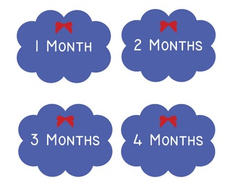 Baby Clothing Stickers - Month to Month Bodysuit Stickers