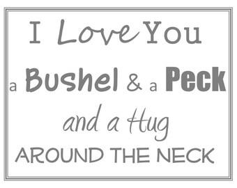 Bushel and a Peck Wall Art