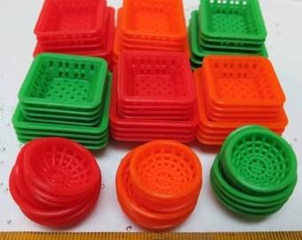 Miniature Plastic Basket Square 、Round、Rectangular 72 pcs