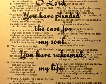 Bible Verse Art Print Instant Download Lamentations Digital Scripture Book Printable Scripture Christian Wall Art