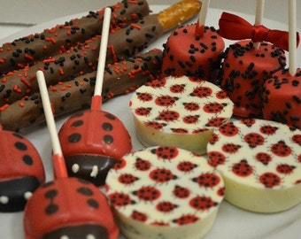 Ladybug Candy Buffet Chocolate Assortment - 48 pieces, Ladybug baby shower, 1st birthday,  dessert table, sweets table, ladybug birthday