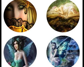 Fairies - Beautiful Fairies - Fairy - 38mm Pendants - Digital Downloads - 38mm Fairy Cabochons - Cabochons - Fairy Prints - DDP356