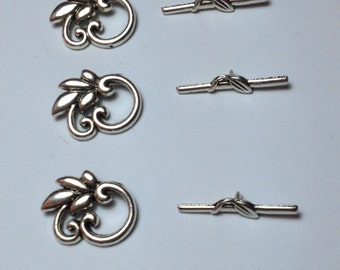 5 floral closing in silver-plated hypoallergenic metal 25mm.