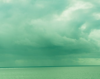 Storm Clouds, Emerald Green, Ocean Photography, Storm Photography, Landscape Photography, Fine Art Photography, Storm Clouds