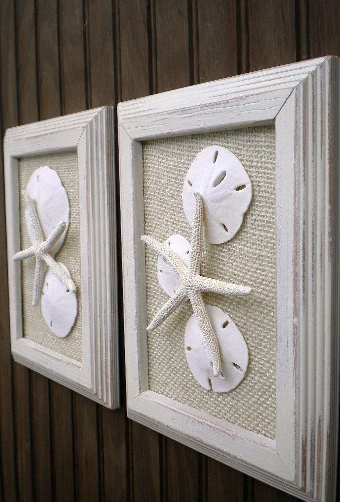 Cottage Chic Starfish Beach Wall Art Sea Shells Home Decor