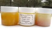 Sugar Scrub Face and Lip Polish LEMONADE  All Natural Skin Care, Lip Exfoliant Face Exfoliant Sugar Scrub Eco Friendly