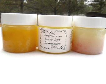 Lemonade Sugar Scrub Face and Lip Polish All Natural Skin Care, Lip Exfoliant Face Exfoliant Sugar Scrub Eco Friendly