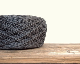 Linen Yarn, Charcoal Linen Yarn, High Quality, #072 Linen Yarn For Crochet, Knitting, 100 g/ 3.5 oz