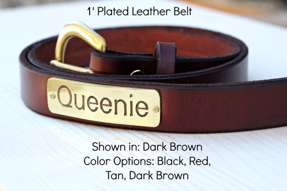 belt premium 1 leather with name plate by magnusleathermade