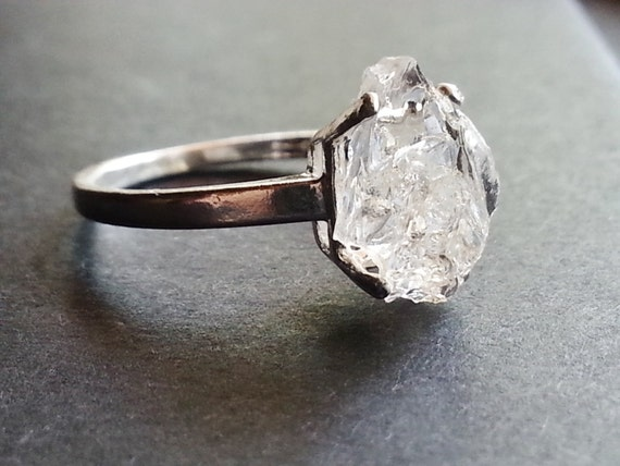 Raw Diamond Ring // Engagement Ring // Rough Diamond Ring