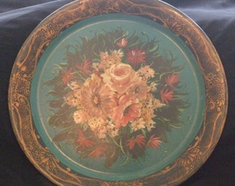 Lovely Large Blue Tole Tray
