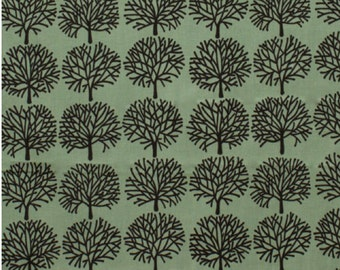 The Ghastlies - A Ghastlie Forest Alexander Henry 100% Cotton Fabric Green Headstone