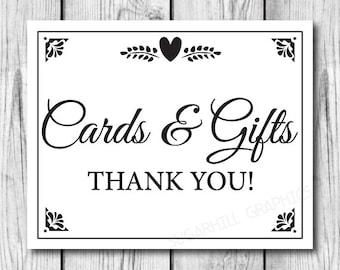 Wedding Gift Table Sign Template : printable wedding sign wedding sign wedding cards gifts sign wedding ...