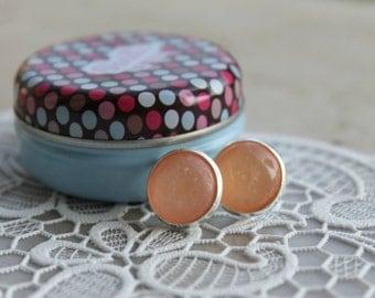 SPARKLY peach earring