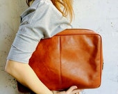 Leather Document Case VIntage Oversized Genuine Leather Clutch Men's Brown Bag Brand Bag Brown leather bag PIERRE CARDIN free shipping