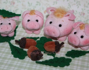 Soft Pig Family PDF Pattern - Instant Download.