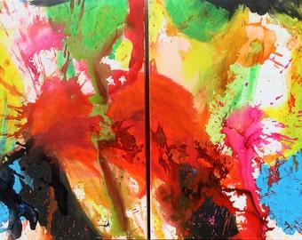 Original 100x70cm abstract freestyle painting named Big Bang #1