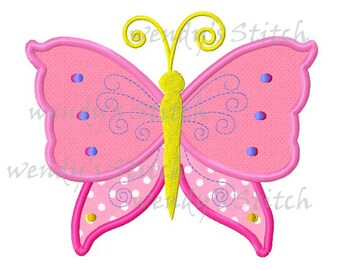 Butterfly 4 applique machine embroidery digital design