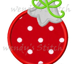 Christmas ornament applique machine embroidery design digital pattern