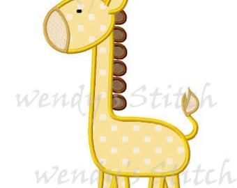 Giraffe applique machine embroidery design digtial pattern