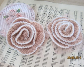 2pcs-Dusty Pink Rolled Flowers/NF15-Rolled rose/Head piece