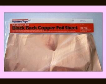 12 x 12 Sheet of BLACK Backed Copper Foil