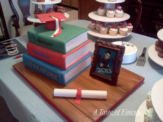 Stacked Book Cake Ideas