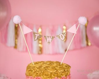 Bunting Birthday Cake Flag Banner