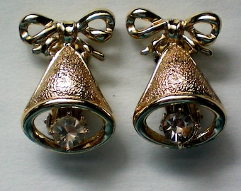 Christmas / Holiday Bells Clip Earrings - 2117