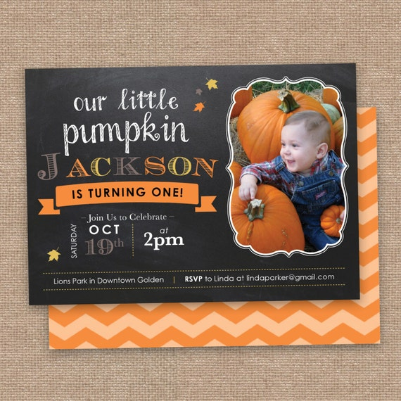 Items Similar To First Fall Birthday Invitation Little