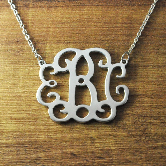 FREE Shipping-Personalized Monogram necklace personalized