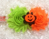 Pumpkin Headband/Cutest Pumpkin in the Patch/Halloween/First Halloween/Orange Green Headband/Halloween Birthday/CakeSmash/Pageant/PhotoProp