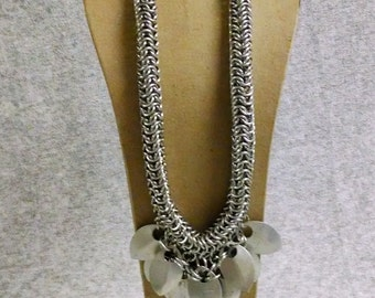 Chainmail and Scale Necklace